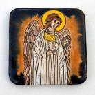 Ceramika i szkło Beata Kmieć,ikona,anioł stróż,ceramika