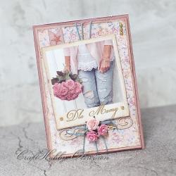 dla mamy,dzień matki,córka,od córki,kwiaty - Kartki okolicznościowe - Akcesoria
