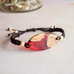bransoletka z drewna i żywicy - Bransoletki - Biżuteria