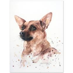 pinczer,akwarela,pies,malarstwo,sztuka,obraz - Obrazy - Wyposażenie wnętrz