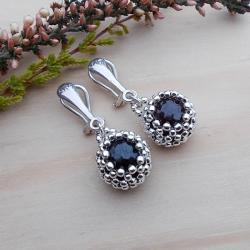 srebro,klipsy,kulki,ażurowe,JewelsbyKT - Klipsy - Biżuteria