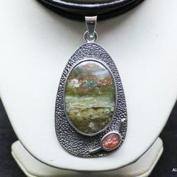 agat,wisior z agatem,srebro,biżuteria - Wisiory - Biżuteria