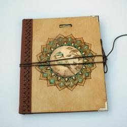 szkicownik,notatnik,pirografia,sikorka - Notesy - Akcesoria
