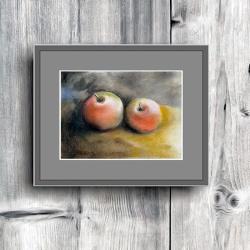 jabłka,obraz,do kuchni,wnętrze,jabłuszka, - Obrazy - Wyposażenie wnętrz