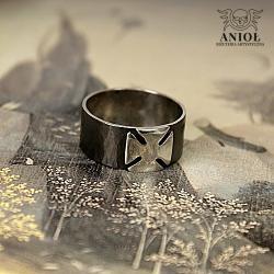 obrączka z krzyżem,sygnet męski - Dla mężczyzn - Biżuteria