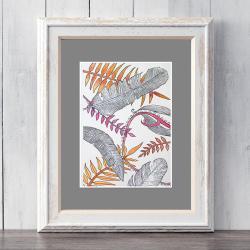 abstrakcja,na ścianę,obraz,ilustracja,pióra - Ilustracje, rysunki, fotografia - Wyposażenie wnętrz