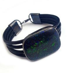 matrix,srebrny,oksyda,barwny,blask,kosmos,opal - Bransoletki - Biżuteria