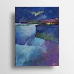 pastele,pejzaż, - Obrazy - Wyposażenie wnętrz