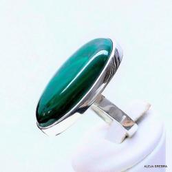 bizuteria,srebro,pierścionki z zielonym kamieniem - Pierścionki - Biżuteria