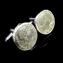 spinki,moneta,blask,srebrne,unikat,brąz,retro - Dla mężczyzn - Biżuteria