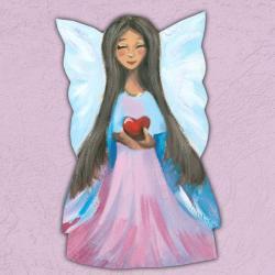 anioł,aniołek,serce,przyjaźń,amulet,miłość - Inne - Wyposażenie wnętrz