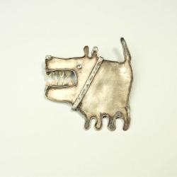 pies,broszka,srebrna,dodatek - Broszki - Biżuteria