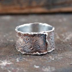 srebrna obrączka - Dla mężczyzn - Biżuteria