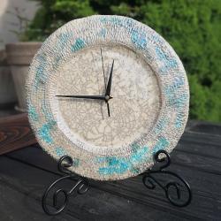 zegar,ceramika,raku,zegar ceramiczny - Zegary - Wyposażenie wnętrz