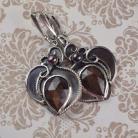 Kolczyki kolczyki,szafir,brązowy,eleganckie,retro