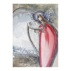 anioł,anioły,muzyka,skrzydła,na ścianę,wnętrze - Ilustracje, rysunki, fotografia - Wyposażenie wnętrz
