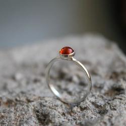pierścionek srebro amber bursztyn - Pierścionki - Biżuteria
