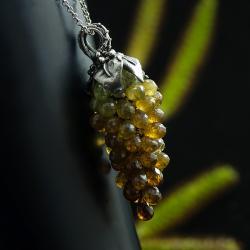 grono,naszyjnik z granatów,unikatowy naszyjnik - Naszyjniki - Biżuteria