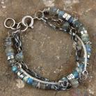 Bransoletki bransoleta ze srebra i labradorytów