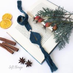 zakładka do książki,prezent na Święta,makrama - Zakładki do książek - Akcesoria