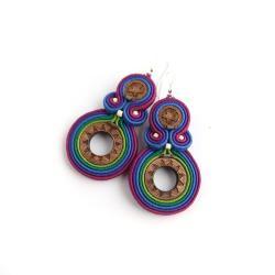 kolczyki w stylu etnicznym,kolczyki boho - Kolczyki - Biżuteria