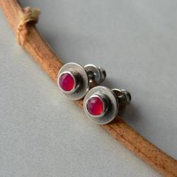 na sztyftach,srebro oksydowane,małe kolczyki - Kolczyki - Biżuteria