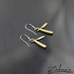 zahario,kolczyki,brąz,brzytwa,symbol,dusza, - Kolczyki - Biżuteria