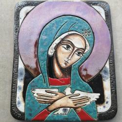 Beata Kmieć,ikona ceramiczna,Maryja,Pneumatofora - Ceramika i szkło - Wyposażenie wnętrz