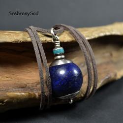 naszyjnik lapis lazuli,wisior lapis lazuli - Naszyjniki - Biżuteria