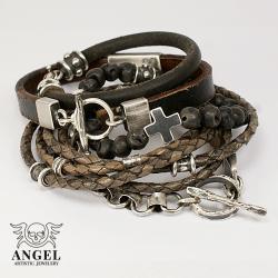 męska biżuteria,naszyjnik z krzyżem - Dla mężczyzn - Biżuteria