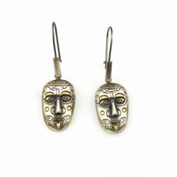 srebro,kolczyki,maski - Kolczyki - Biżuteria