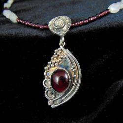 naszyjnik z granatami - Naszyjniki - Biżuteria