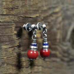 czerwone kolczyki,etno kolczyki - Kolczyki - Biżuteria