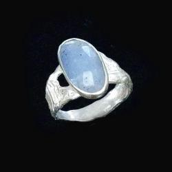 tanzanit,srebrny,blask,fiołkowy,srebro,fiolet,styl - Pierścionki - Biżuteria