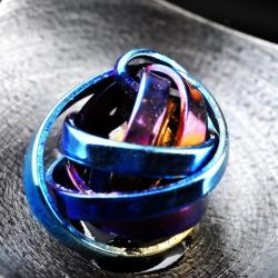 nowoczesny wisior z tytanem - Wisiory - Biżuteria