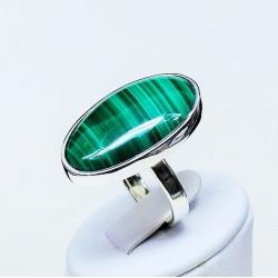 pierścionek z malachitem,srebro,pierścionki - Pierścionki - Biżuteria