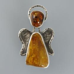 anioł z bursztynów - Wisiory - Biżuteria