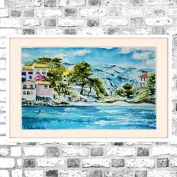 akwarela,morze,krajobraz - Obrazy - Wyposażenie wnętrz