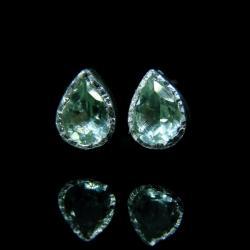 srebro,ametyst,zielony,prasiolit,sztyfty - Kolczyki - Biżuteria