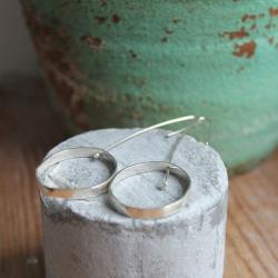 kolczyki srebro koła - Kolczyki - Biżuteria