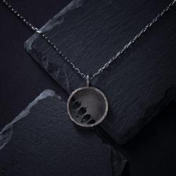 srebrny wisiorek listki - Wisiory - Biżuteria