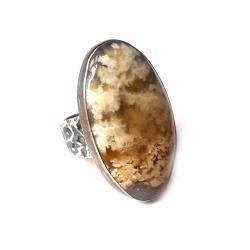 agat,srebrny,mszysty,szarości,zlocisty,blasksrebro - Pierścionki - Biżuteria