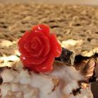 Pierścionki oryginalny,okazały z różą