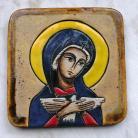 Ceramika i szkło Beata Kmieć,ikona ceramiczna,Maryja