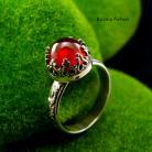 Pierścionki nehesi,pierścionek,srebrny,pierscionek,granatem,