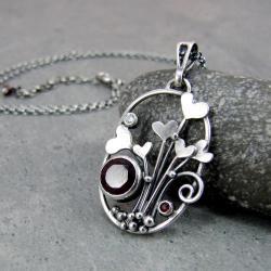 serce,serduszko,walentynki,owalny,ażurowy - Naszyjniki - Biżuteria