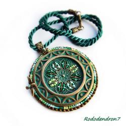 efektowny,nietypowy,zielony,bogaty - Wisiory - Biżuteria