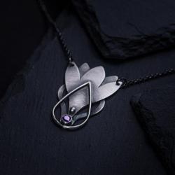 naszyjnik kwiat,krokus - Naszyjniki - Biżuteria