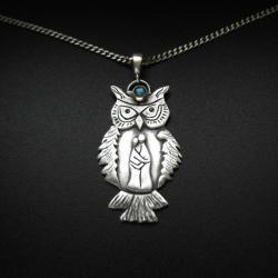 wisior,sowa,amulet,rękodzieło,biżuteria,las, - Wisiory - Biżuteria