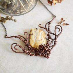 różany naszyjnik,naszyjnik z jaspisem,naszyjnik - Naszyjniki - Biżuteria